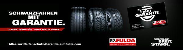 Schwarzfahren mit Garantie - 1 Jahr gratis Reifengarantie für jeden Fulda Reifen